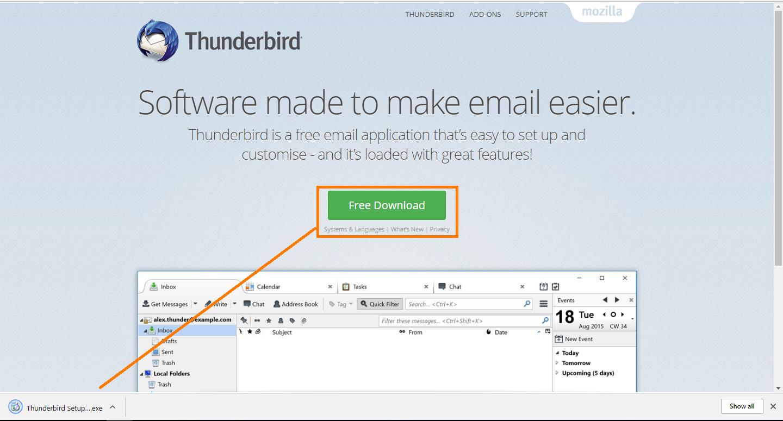 thunderbird 1 2 - Support