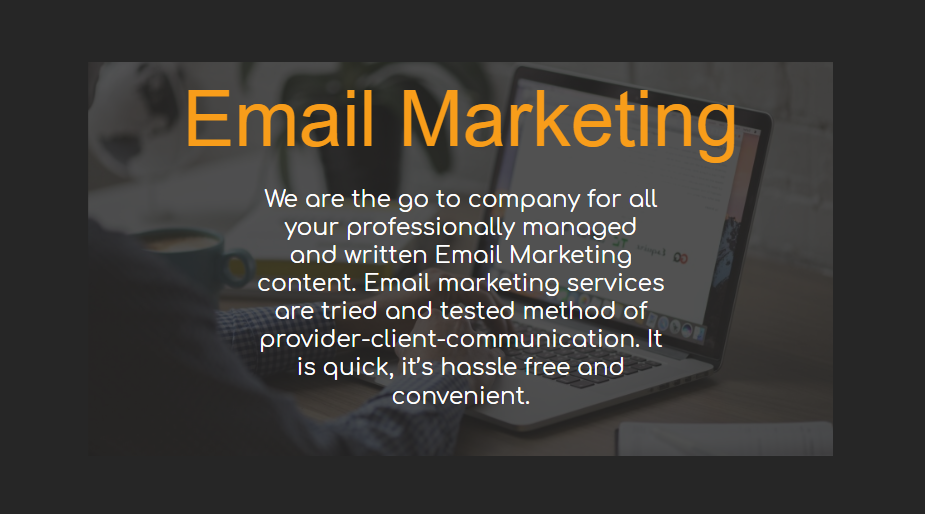 Email Marketing - Our Packages Explained