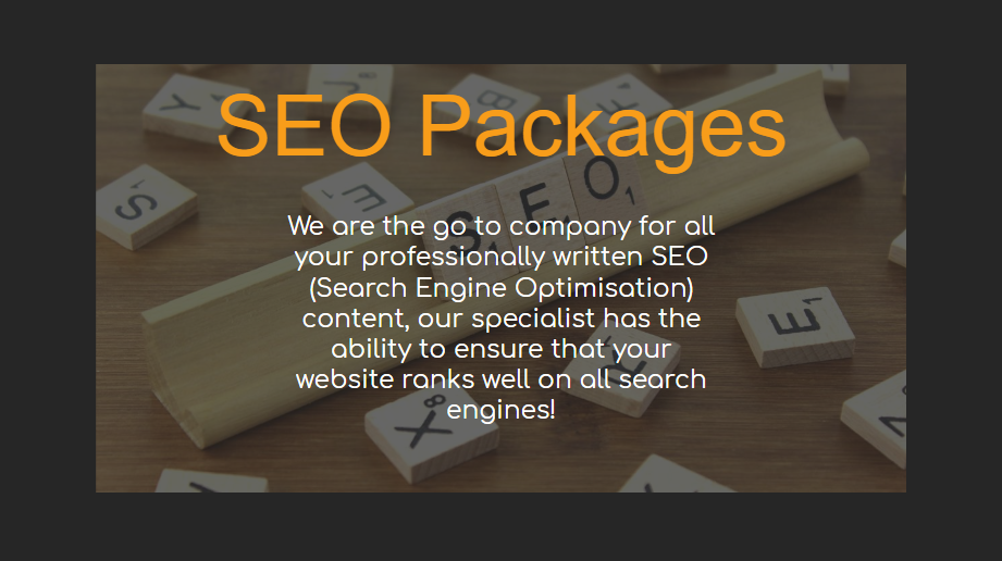 SEO Packages - Our Packages Explained