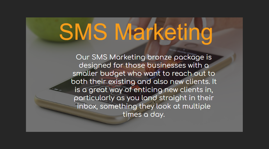 SMS Marketing - Our Packages Explained