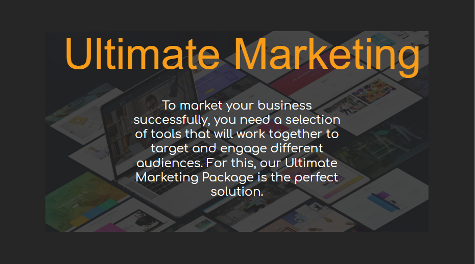 Ultimate Marketing - Our Packages Explained