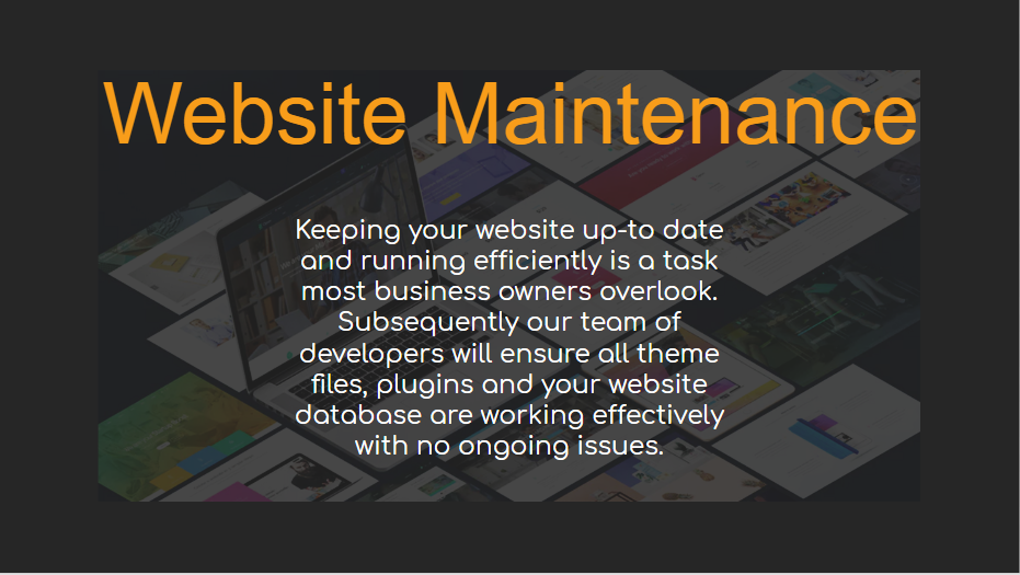 Website Maintenance - Our Packages Explained